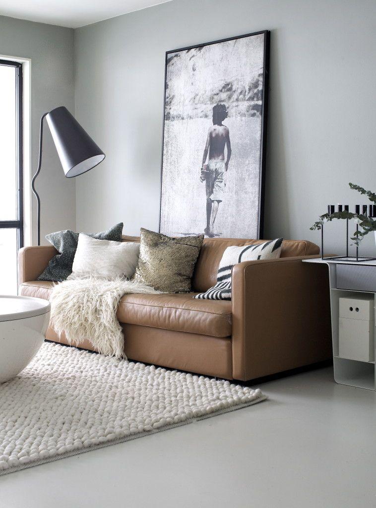 Room Big Brown Leather Sofa