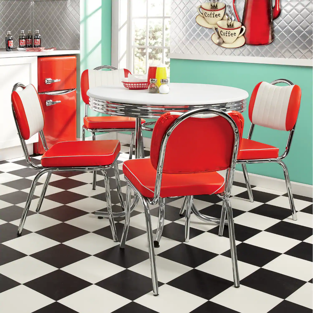 Retro Dining Table Seventh Avenue Retrohomedecor In 2020 With Images Retro Dining Table