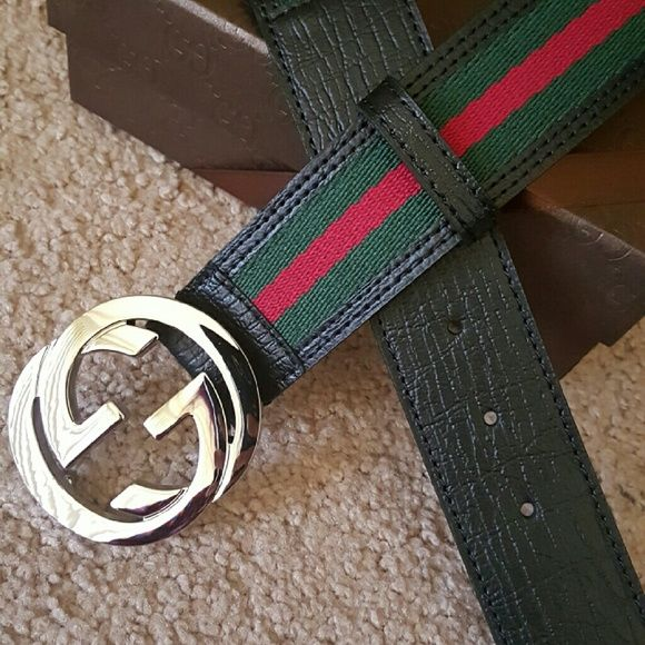 372480c55 Gucci Green/Red Stripe Belt 100cm New authentic gucci belt with green/red  stripe, belt is 100cm and comes with the original box Gucci Accessories  Belts