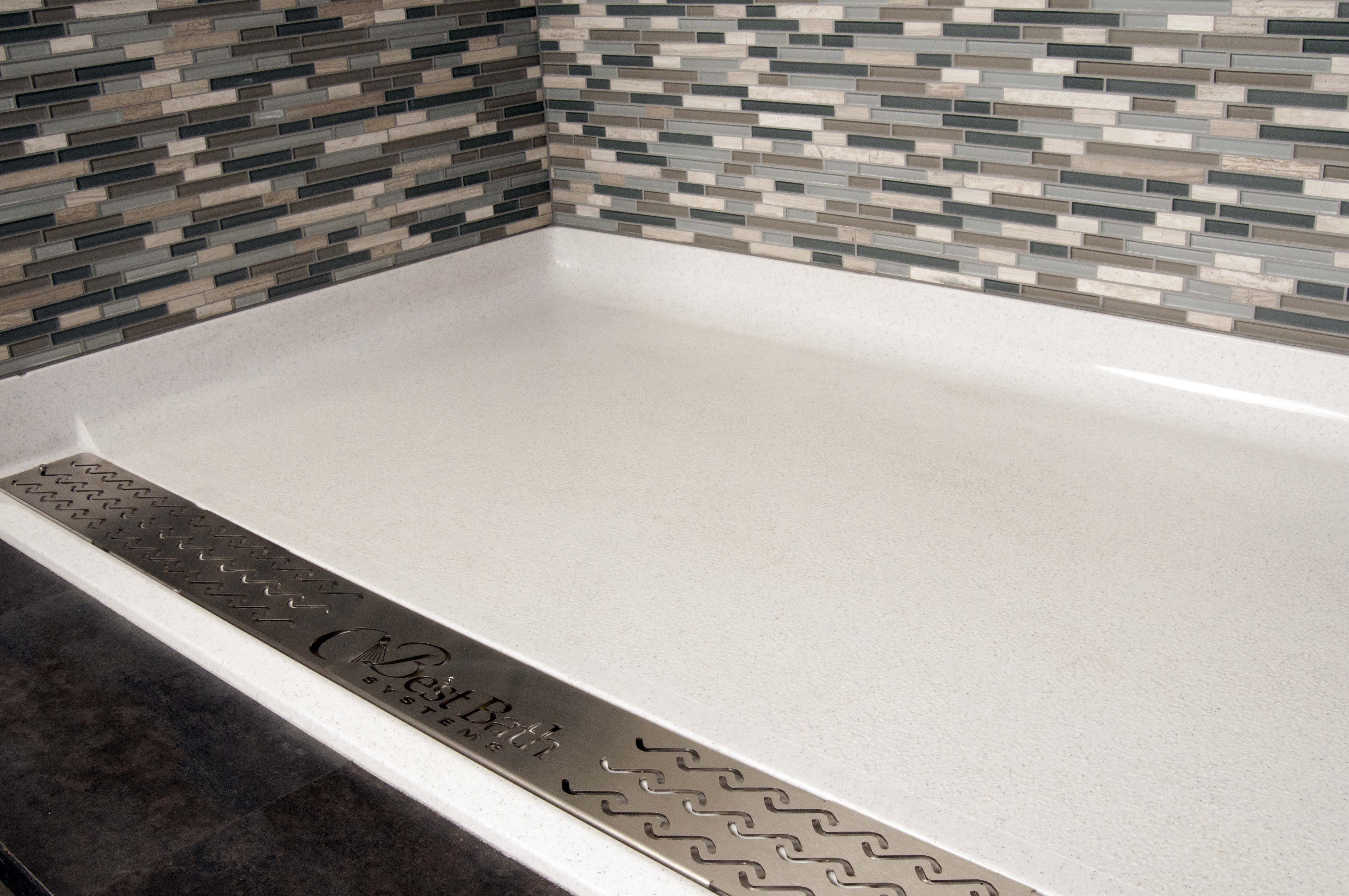 Best Bath shower pan with trench drain and tile walls ...
