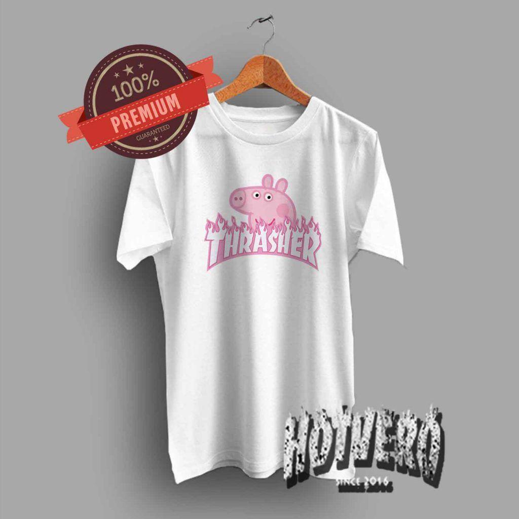 b6ac571a48be Thrasher Peppa Pig Pink Tee - Urban Streetwear #thrasher #thrashertee  #trasherpeppapig #parody #funny #peppapig