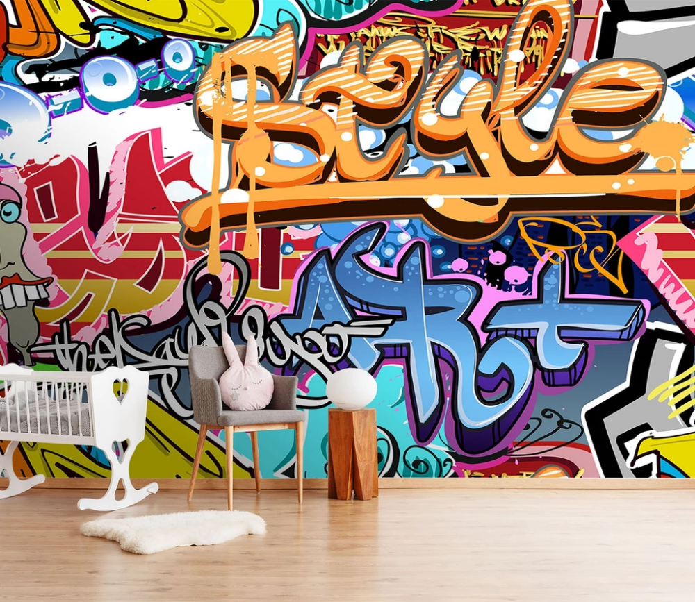 Abstract Graffiti 5 AJ Wallpaper