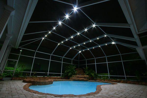 Nebula Lighting Systems Rail Light System Patio Screen Enclosure Enclosures