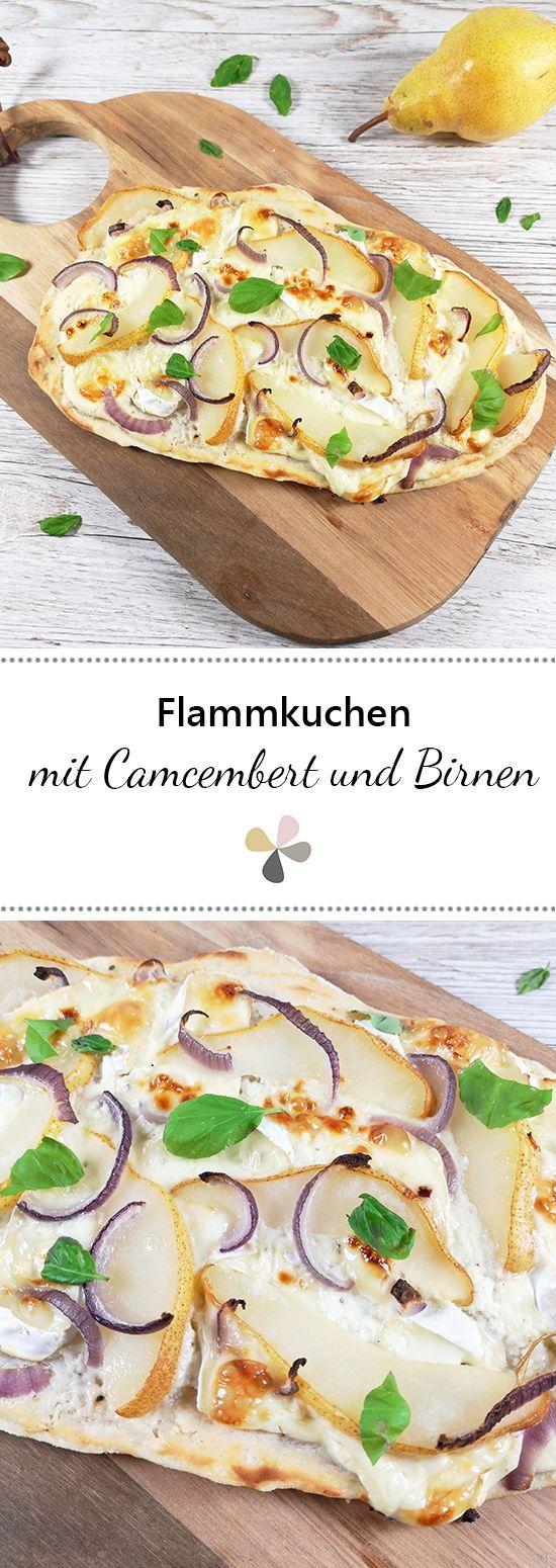 Flammkuchen mit Camembert und Birnen #vejetaryentarifleri