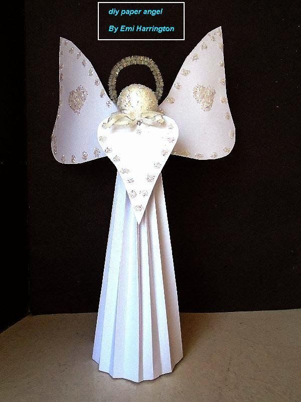 DIY CARDSTOCK PAPER ANGEL Easy Christmas Angel Paper Arts Project