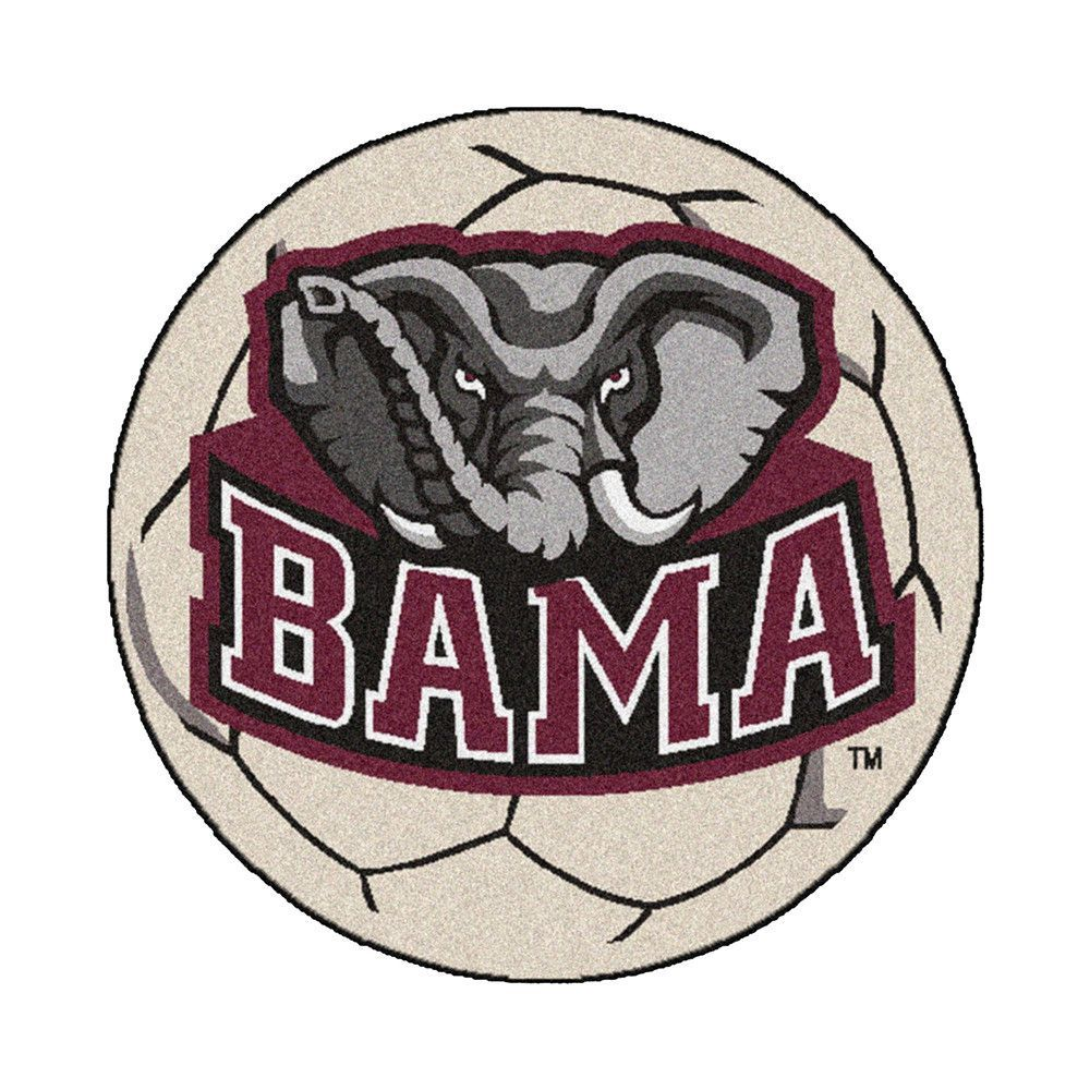 Alabama Crimson Tide Ncaa Soccer Ball Round Floor Mat 29