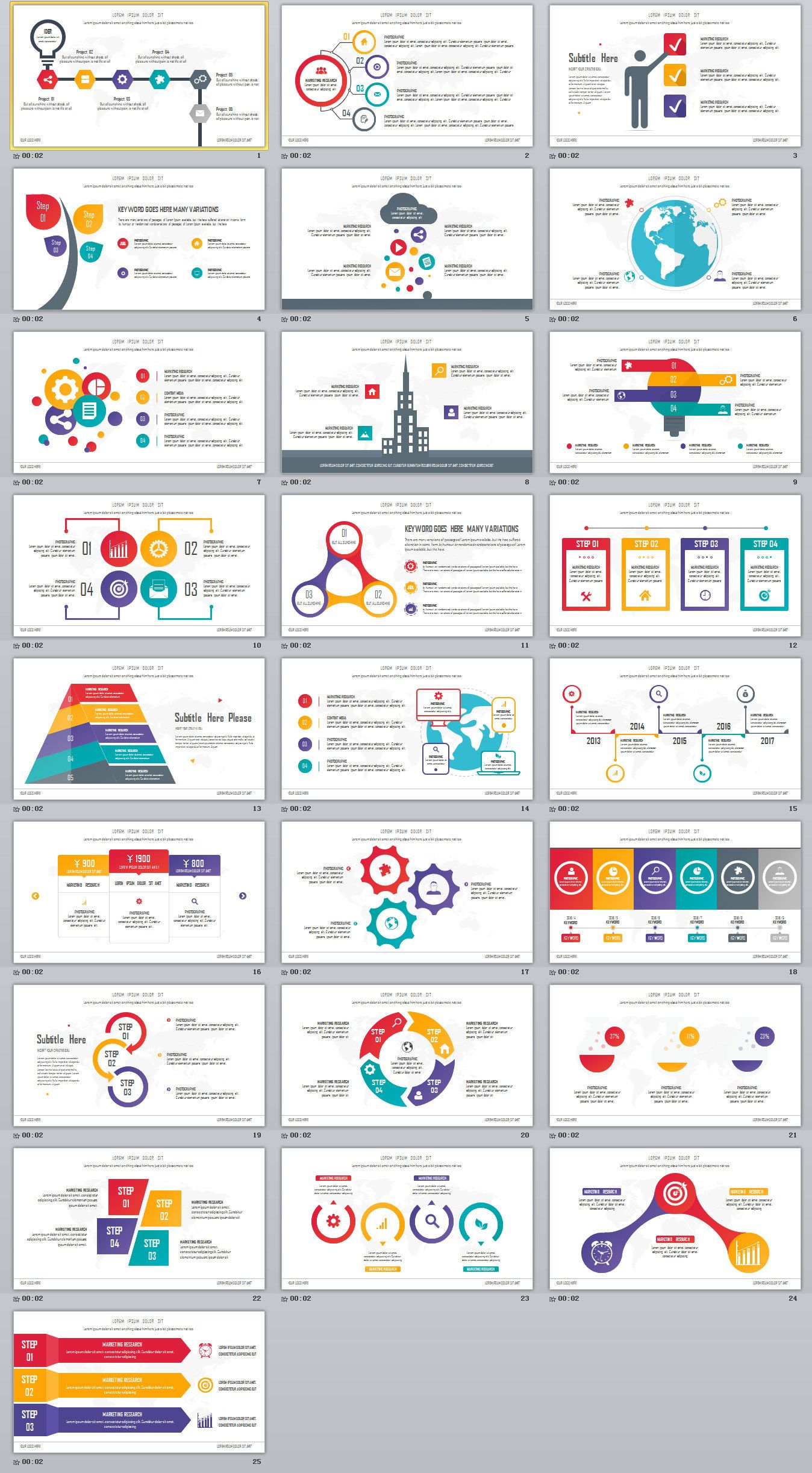 25 best infographic presentation powerpoint templates on behance