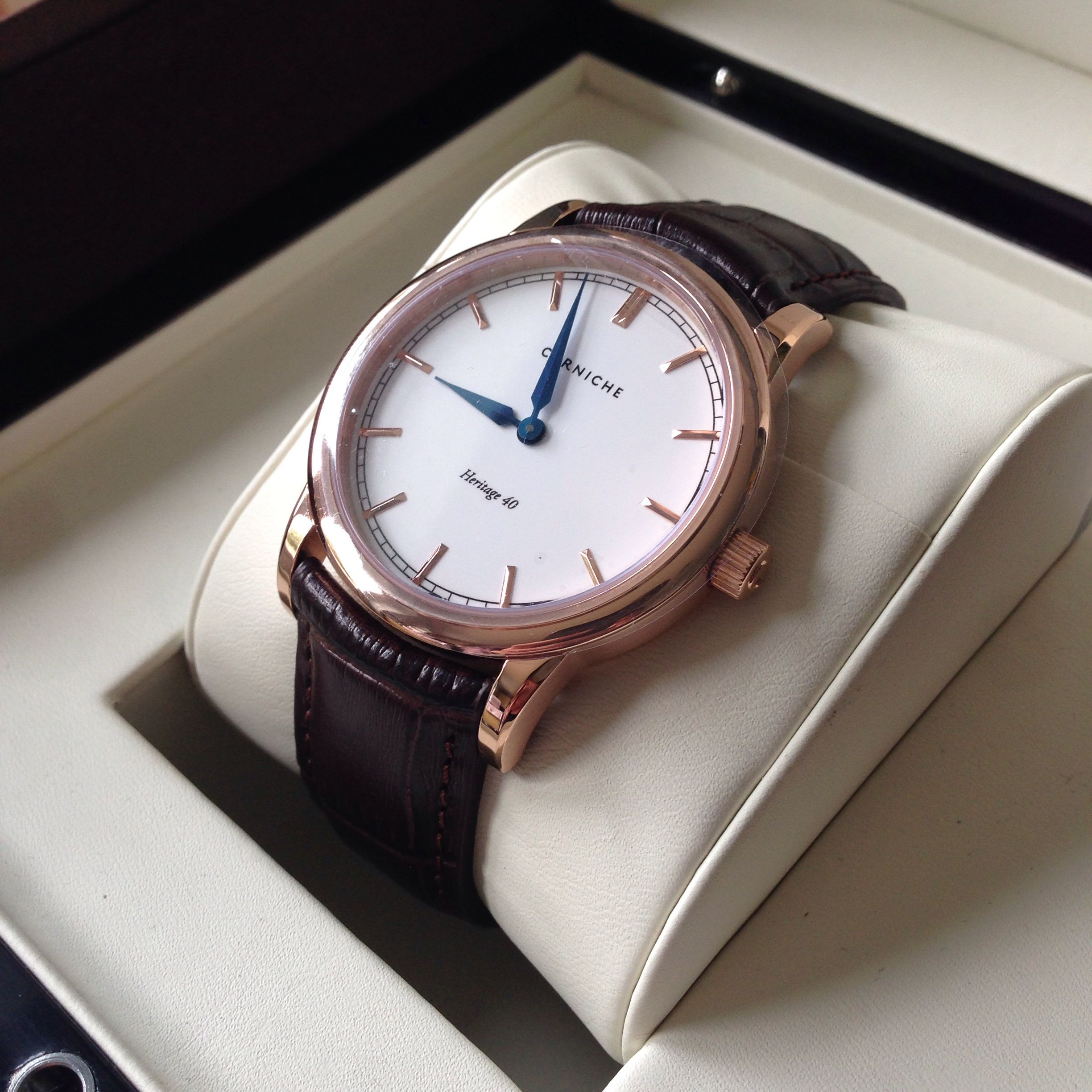 corniche watches heritage 40 gold limited to 250