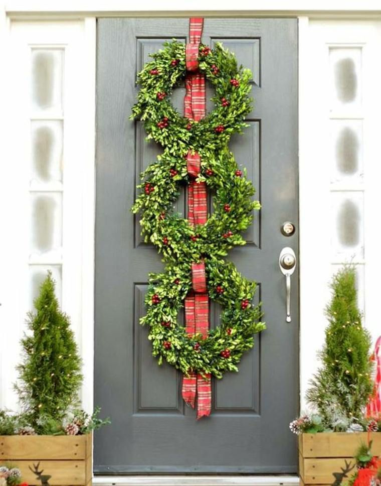 dcoration de nol extrieure pour embellir votre maison - Couronne Noel Lumineuse Exterieur