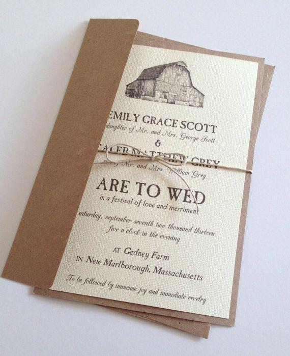 barn wedding invitations - Barn Wedding Invitations
