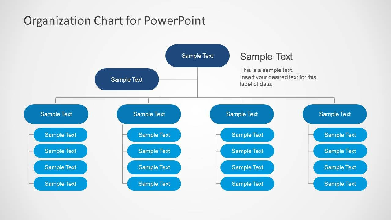 Simple Organizational Chart Template For Powerpoint Slidemodel Organizational Chart Org Chart Organization Chart
