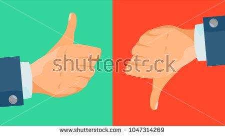 Dislike And Like Icon Vector Thumbs Up Thumbs Down Business Hands