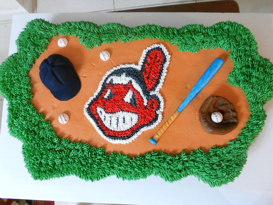 Cleveland Indians cake Baseball Party Indian cake, Dad