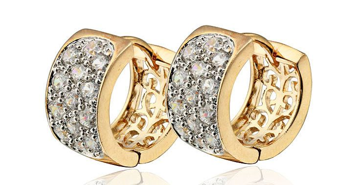 rhinestone earrings pearl pendientes zirconia accessories cubic female item crystal gold stud fashion jewelry in from earring woman imitation