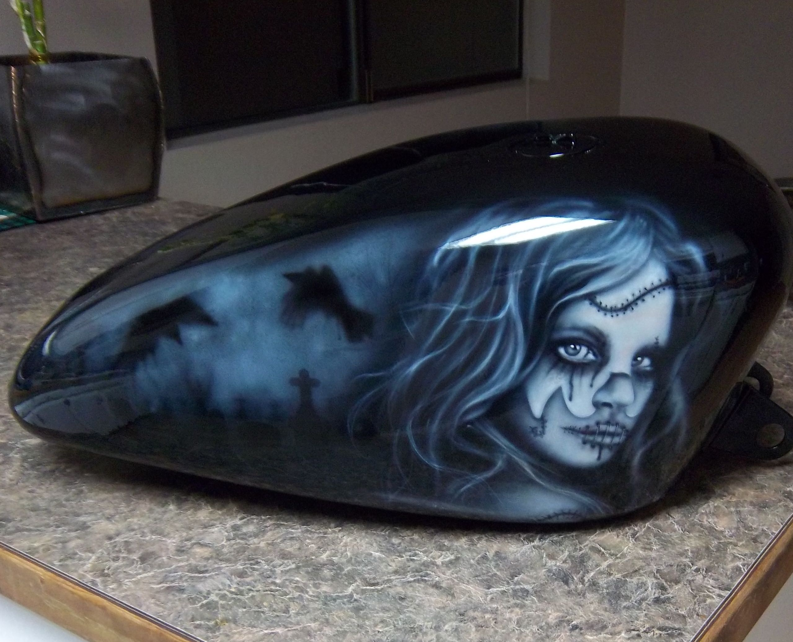 How To Paint Marble Effect On A Motorcycle In Your Garage Motorcycle Rat Bike Motorbikes
