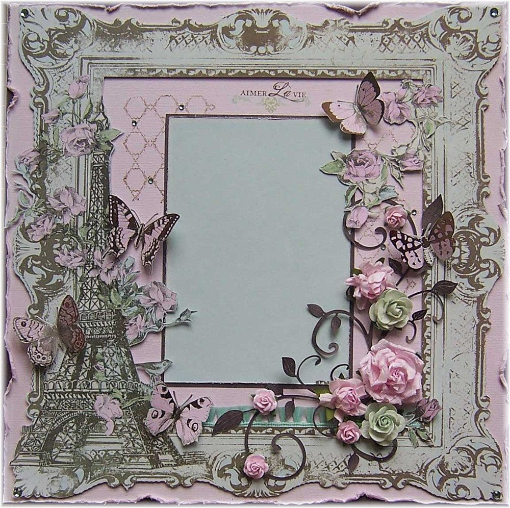 Rice Paper for Decoupage Scrapbook Craft Sheet Paris Eiffel Tower
