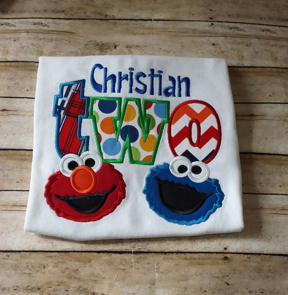 Elmo 2nd Birthday Tshirt Cookie Monster T Shirt Theme Toddler By StitchnCafe On Etsy