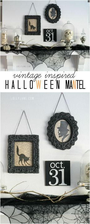 vintage Halloween mantel Mantels, Vintage and Halloween ideas