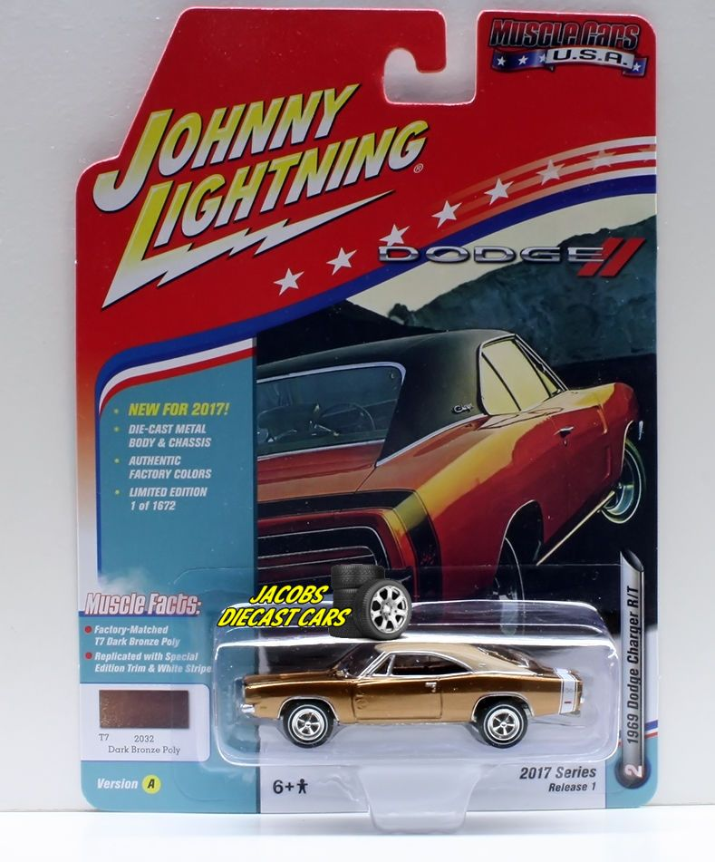 1:64  JOHNNY LIGHTNING MUSCLE CARS USA 2017 SERIES 1A - 1969 DODGE CHARGER R/T - #JohnnyLightning #Dodge