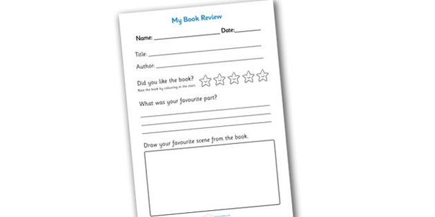 Book Review Writing Frame  Reading Printables    Book