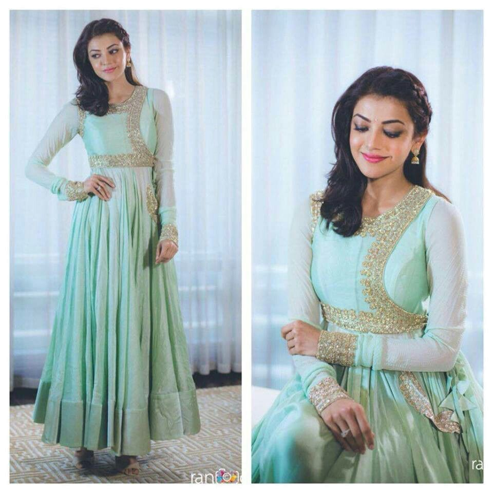 Kajal Aggarwal@trendy traditional dress | Kajal Aggarwal Darling ...
