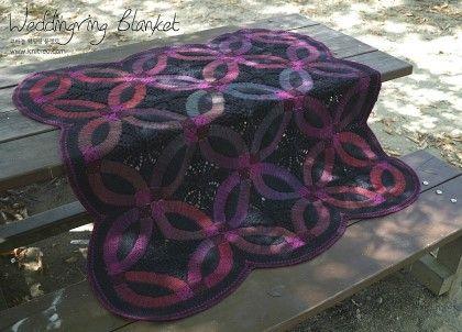 Crochet Weddingring Blanket * 사이즈 : 가로*세로 약 120cm*120cm * 실 토스카 라이트 (1볼 100g, 400...