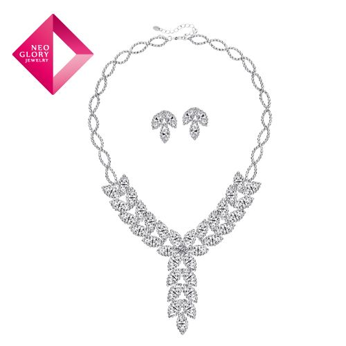 Aliexpress.com : Buy Free Shipping Neoglory  jewelry sets bridal earrings crystal drop leaf  necklace for elegant female 2013 new arrival from Reliable Jewelry set suppliers on NEOGLORY JEWELRY