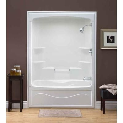 Mirolin   Liberty 60 Inch 1 Piece Acrylic Tub And Shower  Right Hand