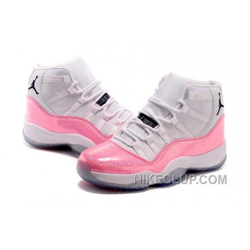 01b8c848d8e Air Jordan 11 Basketball Shoes Colorful White Pink Black New Style WA86tj7
