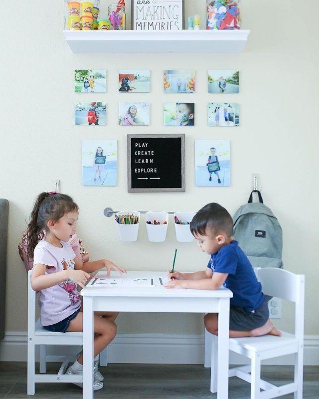 Basement Study Room: 20 Cute Kids Study Room Ideas