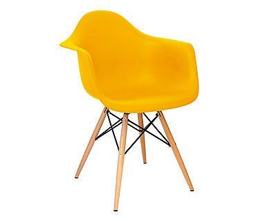 Cadeira Finella Wood - Amarela