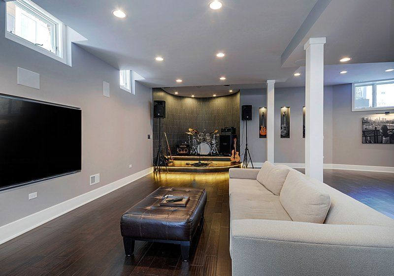 25 New Basement Ideas You Should Not Miss Homygarden Basement Living Rooms Modern Basement Finishing Basement