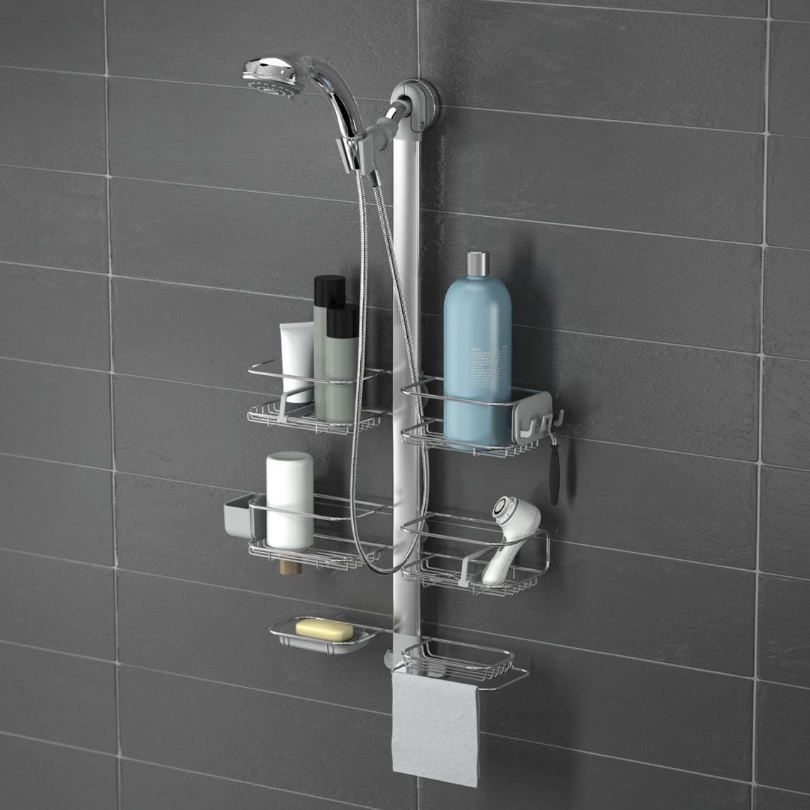 Adjustable Shower Caddy Stainless Steel Anodized Aluminum Housses