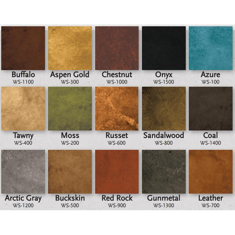 Concrete Water Based Stain Living Earth 4oz Samples