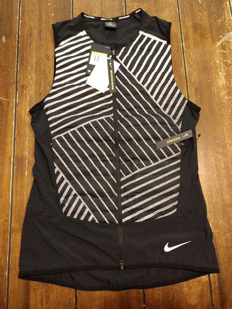 117c0d4c283f NWT  215 Mens Nike Aeroloft Flash Running Vest Reflective 859208 010 SZ  SMALL  fashion