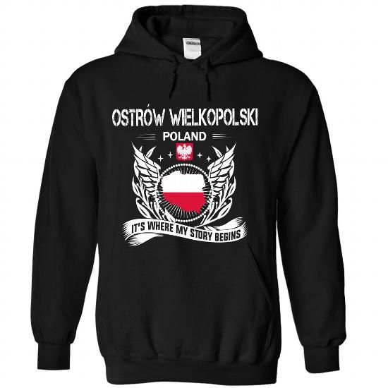 OSTROW WIELKOPOLSKI- Its where my story begins! - #v neck tee #tshirt text. PURCHASE NOW => https://www.sunfrog.com/Names/OSTROW-WIELKOPOLSKI-Its-where-my-story-begins-6589-Black-Hoodie.html?68278