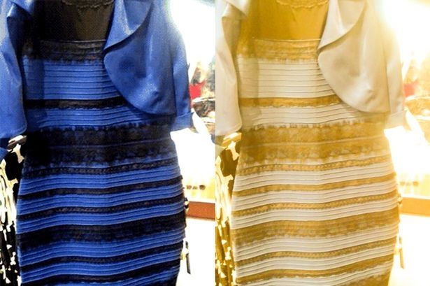Gold And Blue Black Dress