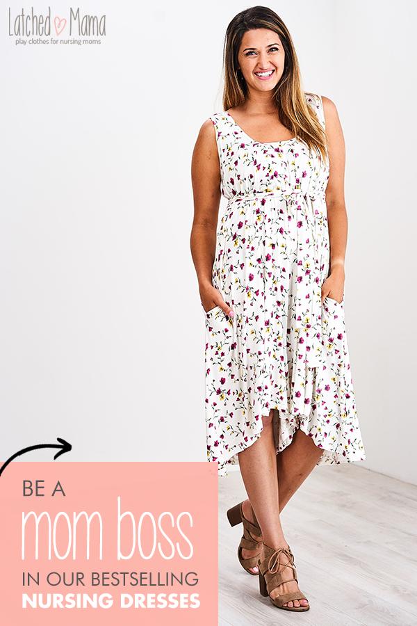 330fc0e50b1cf6 The latched mama side knot nursing dress – Artofit
