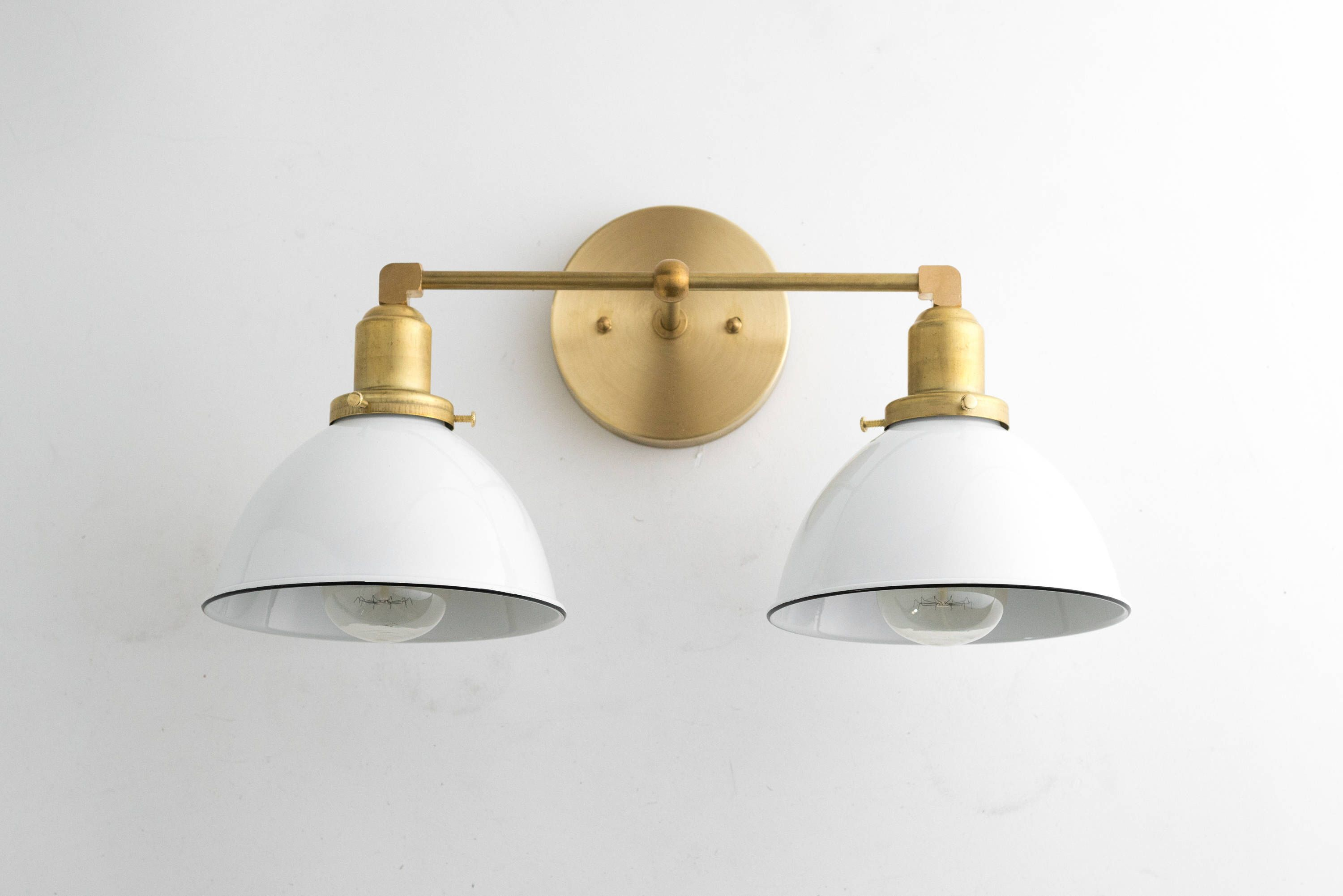 Wall Sconce Bathroom - White Gold Vanity - Sconce Vanity ...