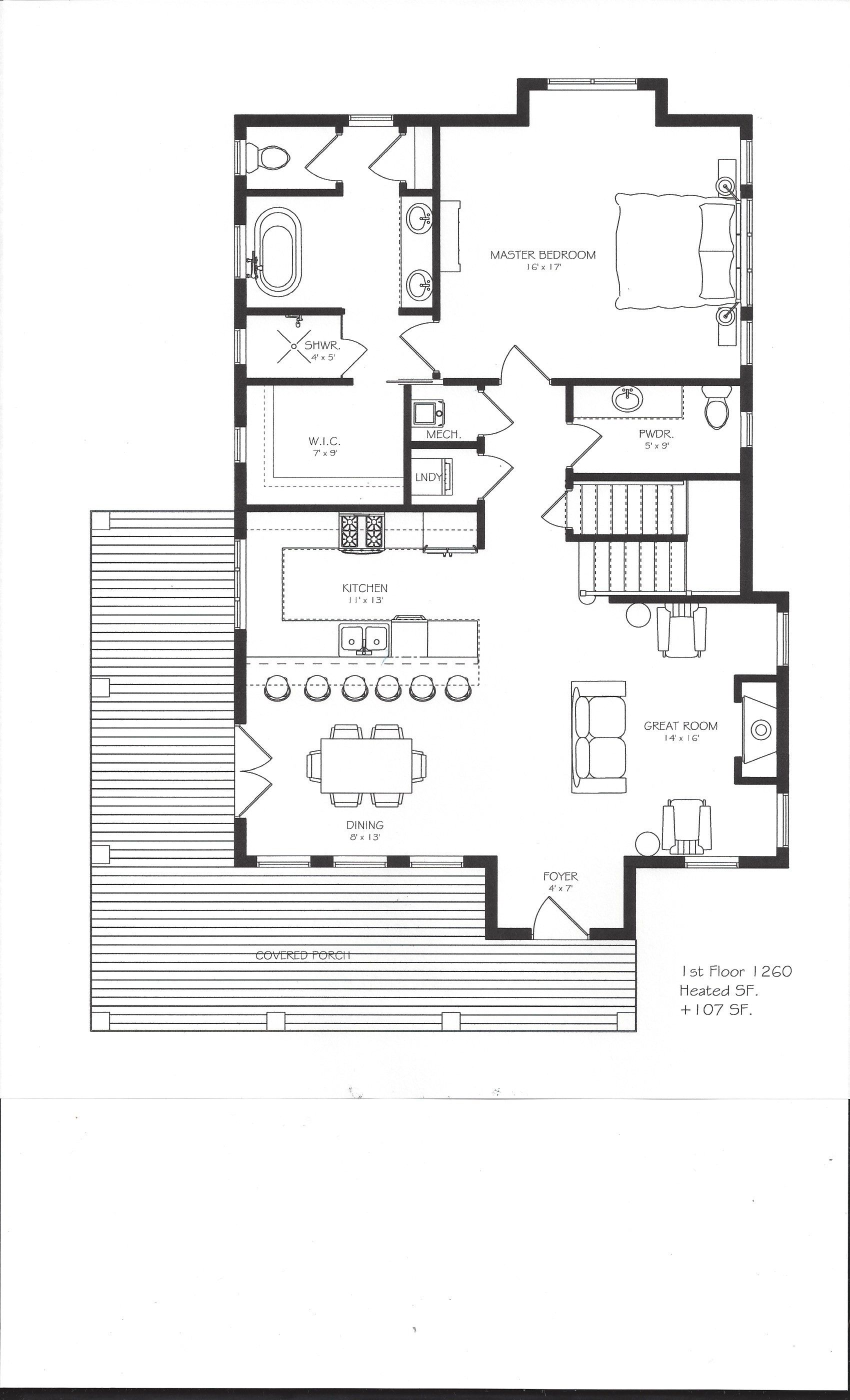5 master bedroom house  Option B layout for The Lexington  House in a Box Plans  Pinterest