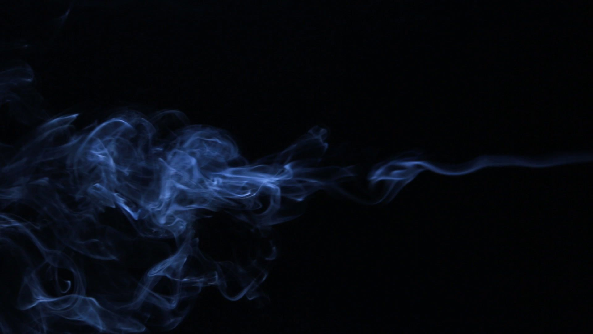Stream Of Smoke Passes Into The Clubs Swirls Of Smoke Abstract