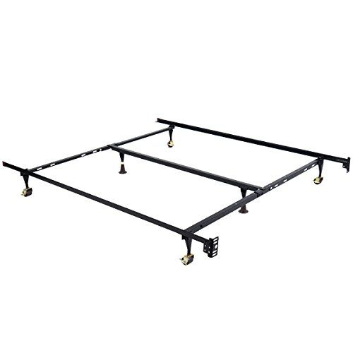 Giantex Metal Bed Frame Adjustable Queen Full Twin Size W Center