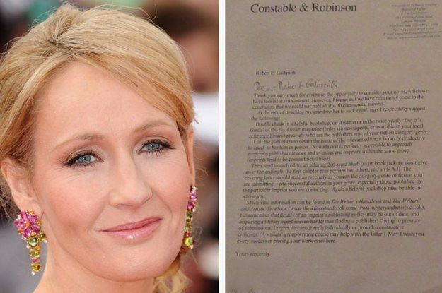 JK Rowling Just Shared An Important Lesson In Being Rejected And Picking Yourself Up - BuzzFeed News