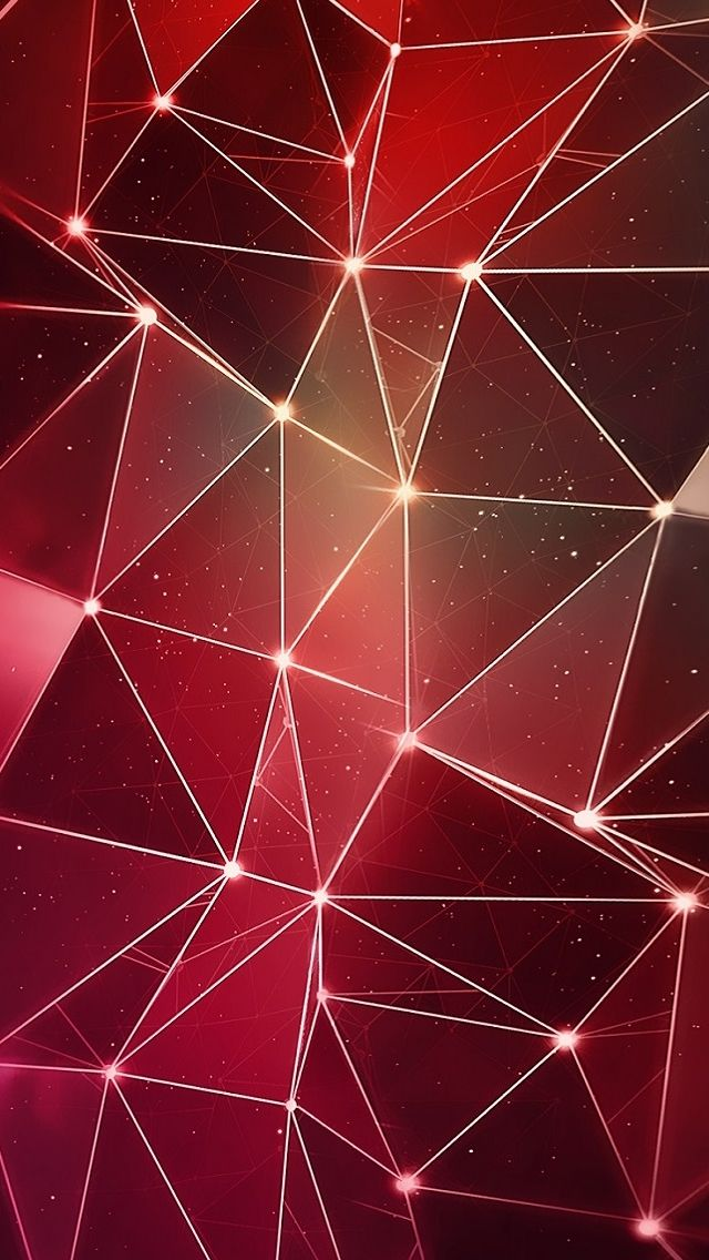 Red Triangle Lights IPhone 5s Wallpaper