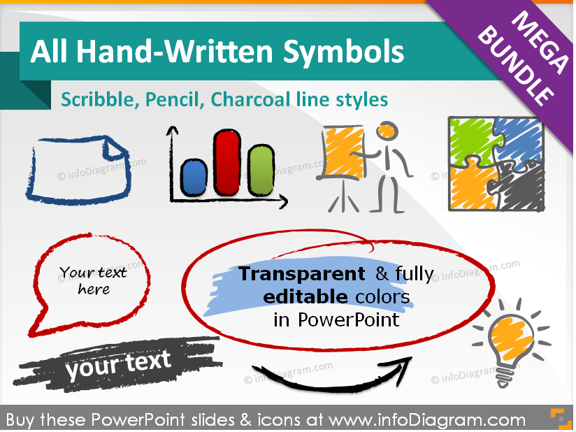 All Handwritten Symbols And Shapes Mega Bundle Ppt Icons
