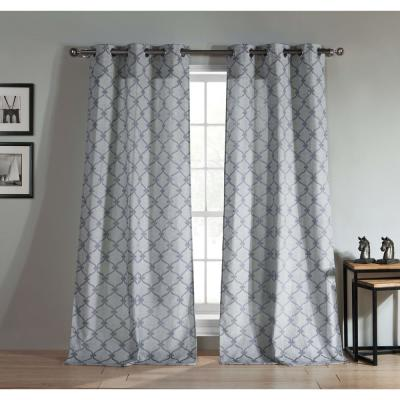 Duck River Heidilee 37 In W X 96 In L Polyester Window Panel In Spa Blue Hlrsb 12 11670 Curtains Panel Curtains Custom Drapes