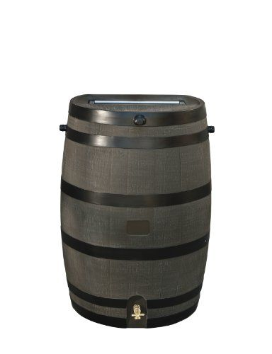 Rts Home Accents 50 Gallon Rain Water Collection Barrel With Brass Spigot Wood Grain Rts Companies Inc Ht Rain Barrel Rain Water Collection Rain Barrel System