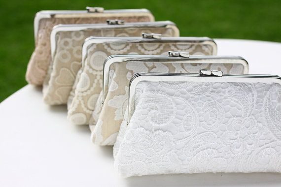 Lace Wedding Clutches / Lace Bridal Purse / Elegant by FAbridal, $300.00
