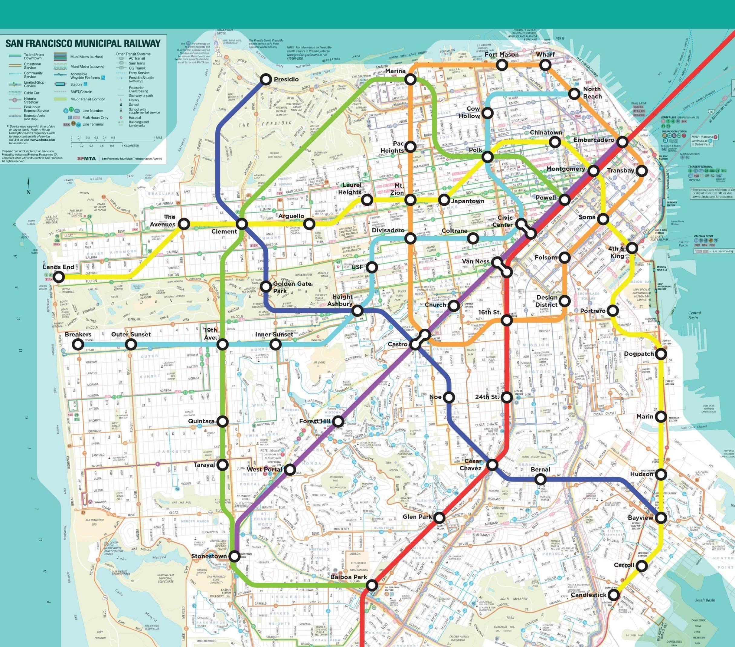 BART Fantasy Map San Francisco Subway Metro Transit Transit