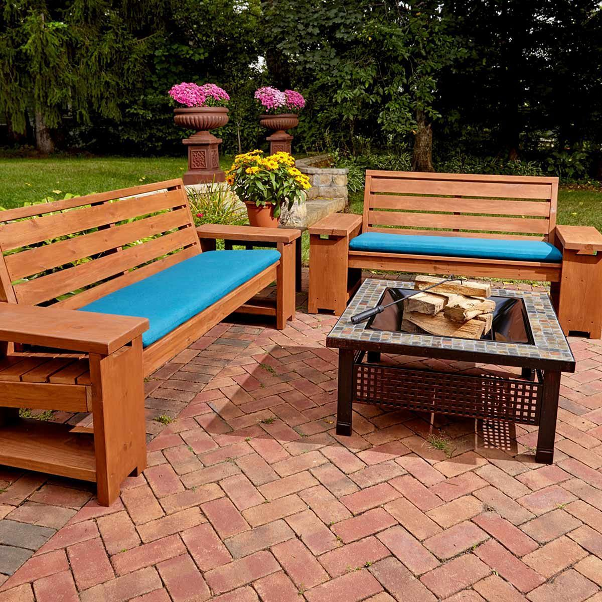 Diy Wood Patio Furniture 9 Wooden Bench Plans Outdoor
